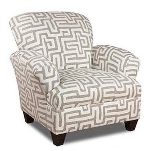 Corinthian Conran Accent Chair: Corinthian Colonist Accent Chair With Contrast Fabric