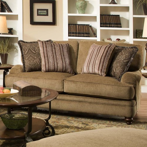 Corinthian 33A Elegant Styled Traditional Cottage Loveseat