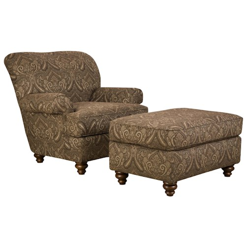 Corinthian 33A Casual Styled Specialty Chair and Ottoman Set