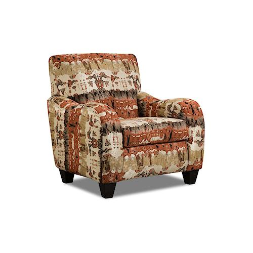Corinthian 35A0 Reflections Lava Accent Chair