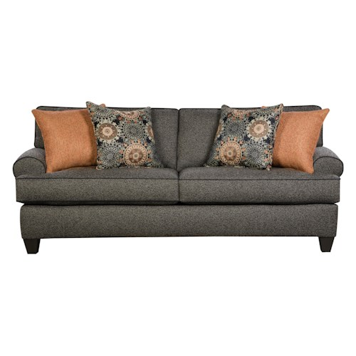 Corinthian 37A0 Comfortable Sofa With Rolled Arms