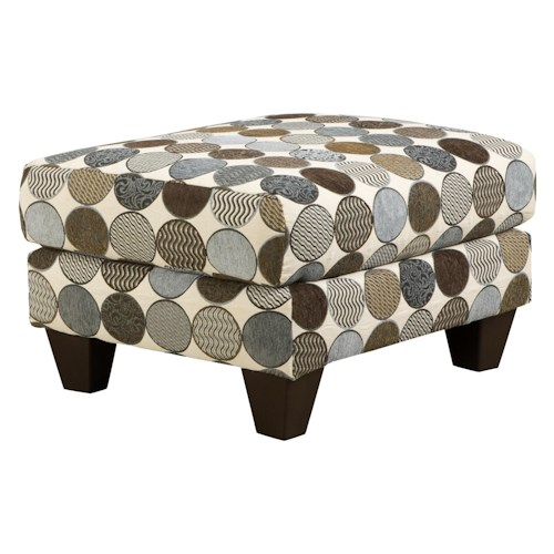 Corinthian 3850  Classic Styled Accent Ottoman in Standard Rectangle Shape