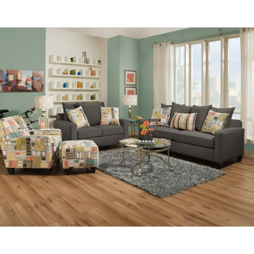 Corinthian 49A0 Stationary Living Room Group