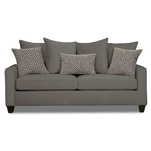 Corinthian 49C0 Casual Sofa with Dark Wood Block Feet
