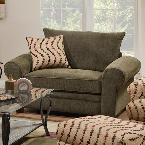 Corinthian 5400   Extra Large Chair and a Half for Casual Styled Living Room Comfort