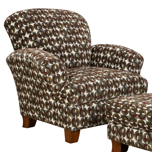 Corinthian 5460 Attractive Styled Accent Chair with Smooth Simplistic Look in Casual Contemporary Style