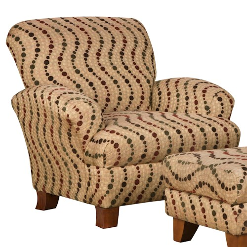 Corinthian 5400  Attractive Styled Accent Chair with Smooth Simplistic Look in Casual Contemporary Style