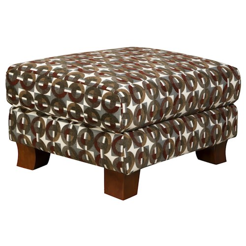 Corinthian 5460 Casual Styled Accent Ottoman for Multi-Purpose Living Room Comfort