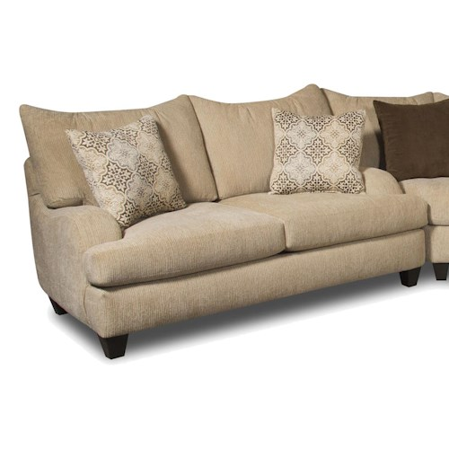 Corinthian 5520 Loveseat with Contemporary Style