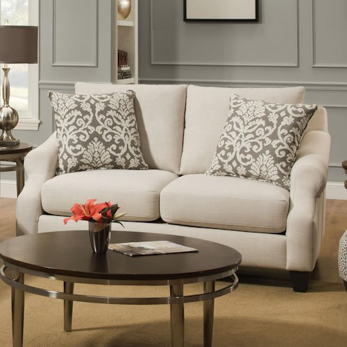 Corinthian 56A0 Lavish Cream Loveseat