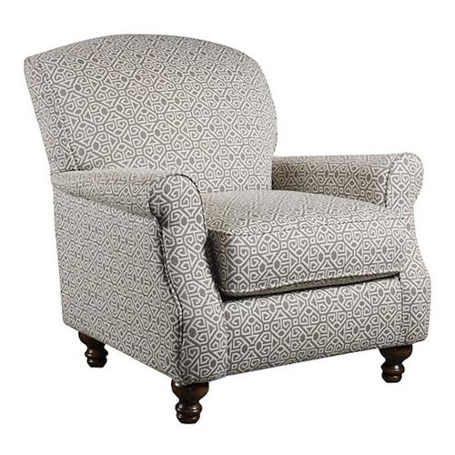 Corinthian 56A0 Luniss Pewter Accent Chair