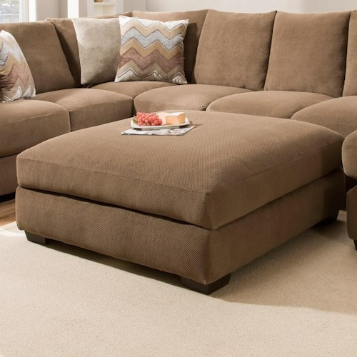 Corinthian 61B0 Regular Ottoman for Use with Sectional Sofa
