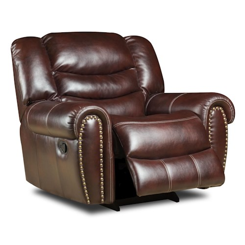 Corinthian 655 Motion Group Power Recliner with Traditional Style