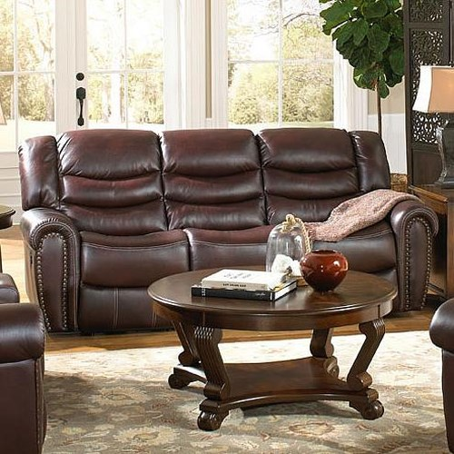 Corinthian 655 Motion Group Power Recline Sofa with Traditional Style