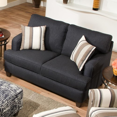 Corinthian 6610 Contemporary  Loveseat or Small Apartment Sofa in Chic Urban Style