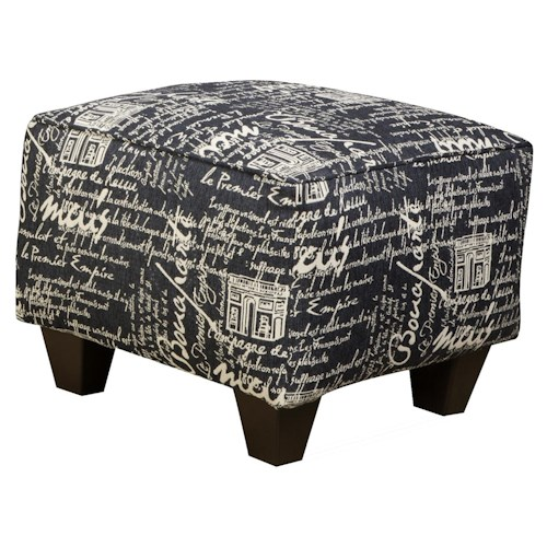 Corinthian 6610 Plush Upholstered Box Style Ottoman for Chair