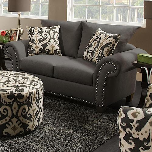 Corinthian 66D0 Loveseat with Reversible Seat Cushions