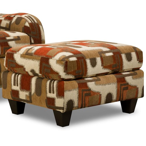 Corinthian 65A0 Casual Contemporary Accent Ottoman