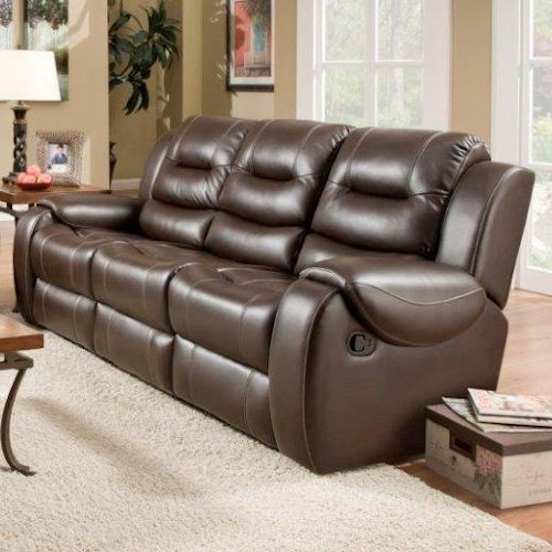 Corinthian 714 Reclining Sofa with 2 Reclining Seats