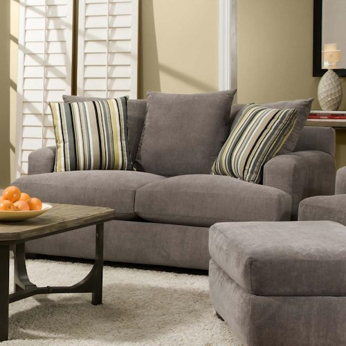 Corinthian 7810 Loveseat with Casual Contemporary Style