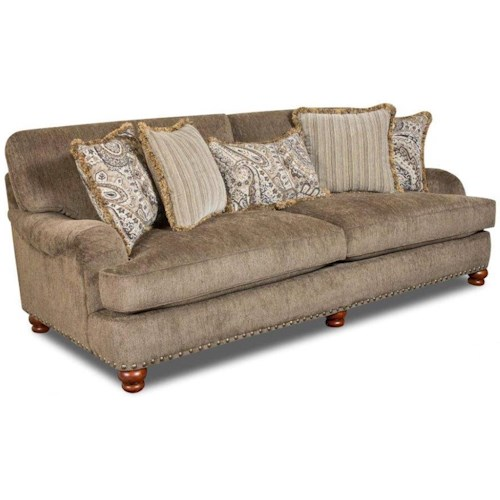 Corinthian 8020 Stationary Sofa with Nailhead Trim