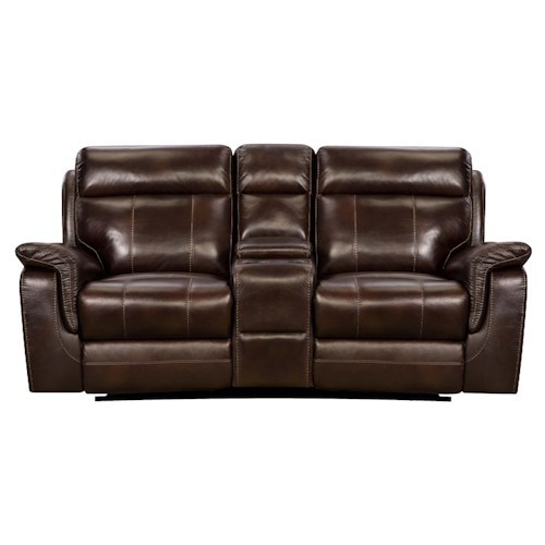 Corinthian 862 Reclining Console Loveseat With Cup Holders J J Furniture Reclining Love