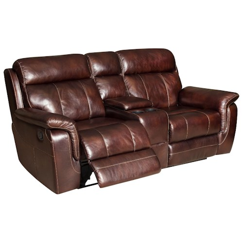 Corinthian Baxter Casual Styled Reclining Console Loveseat