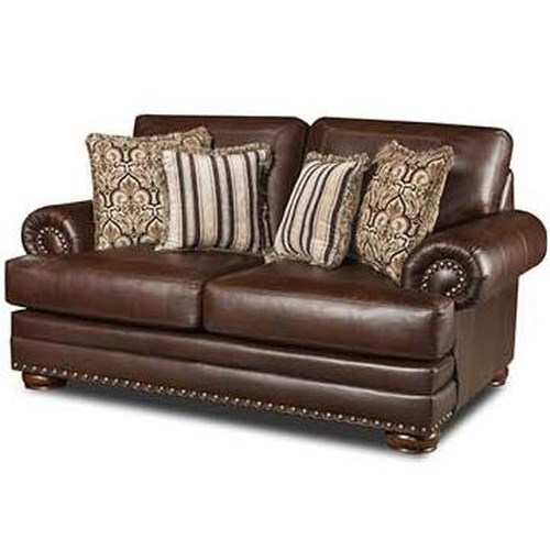 Corinthian 9010 Love Seat with Nailhead Trim