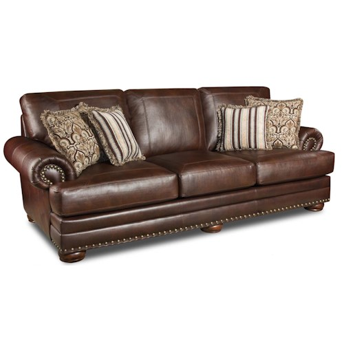 Corinthian 9010 Stationary Sofa with Nailhead Trim