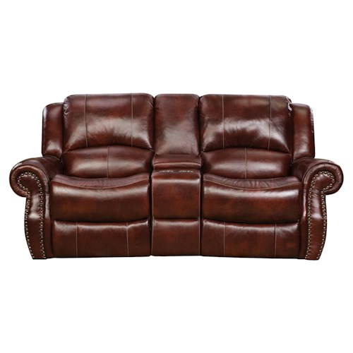 Corinthian 99901 Power Reclining Console Loveseat with Traditional Style