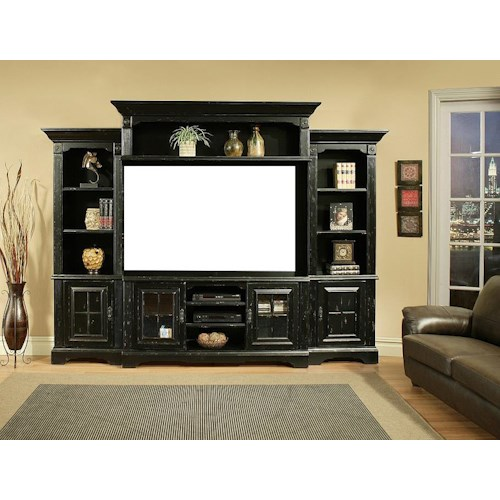 Coronado 5549 Charleston 4pc Wall Unit No Back Panel