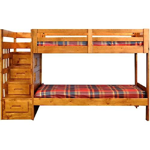 Coronado Ponderosa Twin Over Full Stair Bed Ivan Smith Furniture Bunk Bed