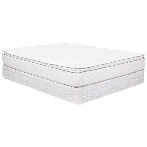 Corsicana 1025 Euro Top Full Euro Top Innerspring Mattress and 9