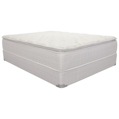 Corsicana 1425 Queen Pillow Top Innerspring Mattress and 9