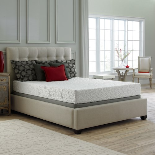 Corsicana 30SS Queen Gel Memory Foam Mattress and 9