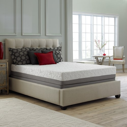 Corsicana 60SS Twin Luxury Microcoil Hybrid Mattress and 9