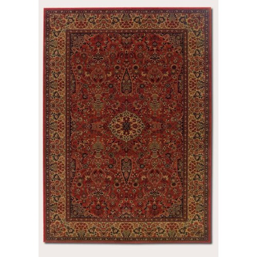 Couristan Ellington 5.3 x 7.6 Area Rug : Red