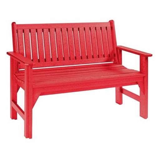C.R. Plastic Products Adirondack - Red Garden Bench