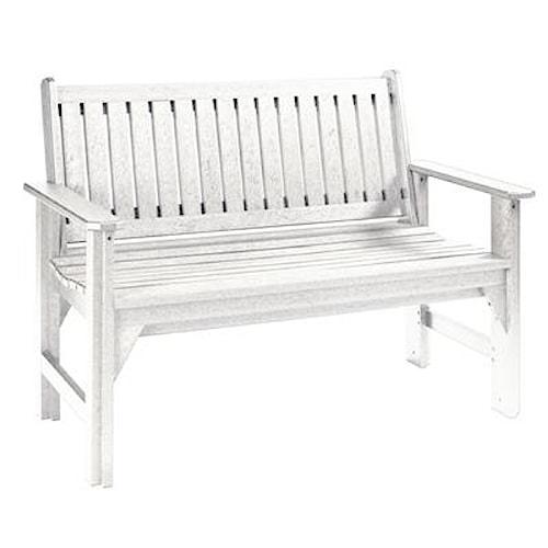 C.R. Plastic Products Adirondack - White Garden Bench