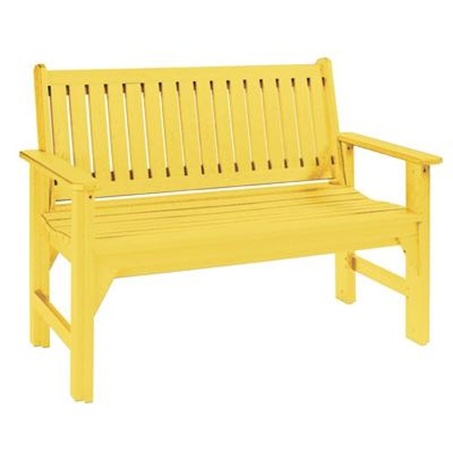 C.R. Plastic Products Adirondack - Yellow Garden Bench