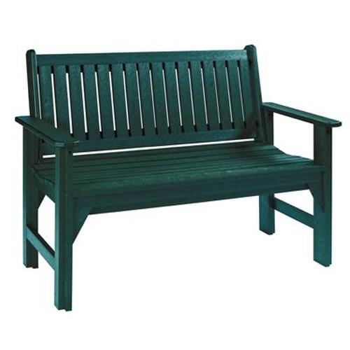 C.R. Plastic Products Adirondack - Green Garden Bench