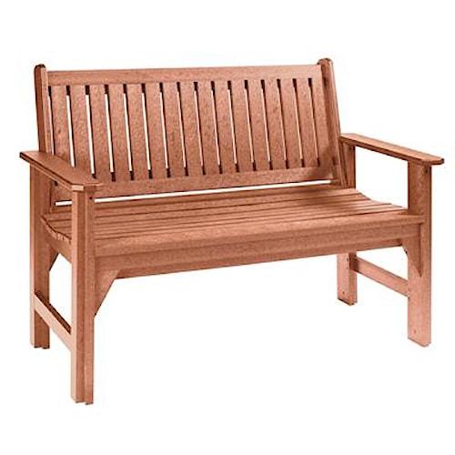 C.R. Plastic Products Adirondack - Cedar Garden Bench