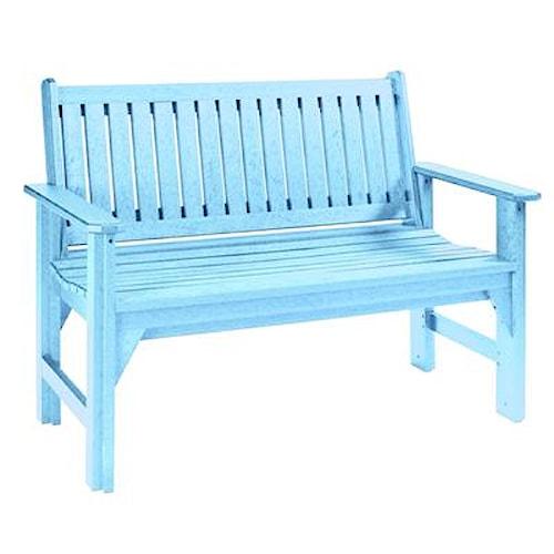 C.R. Plastic Products Adirondack - Aqua Garden Bench
