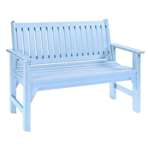 C.R. Plastic Products Adirondack - Sky Blue Garden Bench