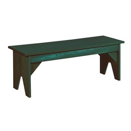 C.R. Plastic Products Adirondack - Green Basic Bench