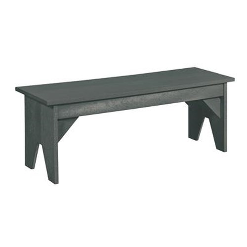 C.R. Plastic Products Adirondack - Slate Basic Bench