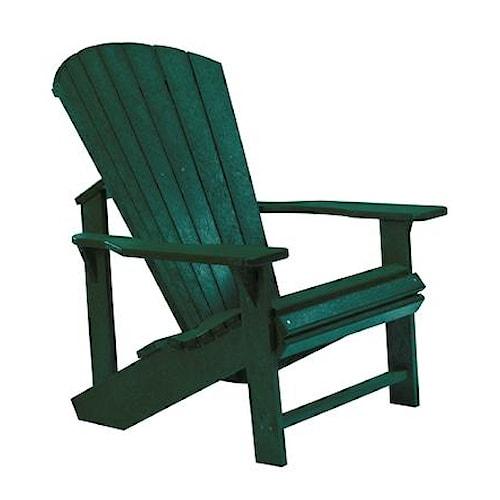 C.R. Plastic Products Adirondack - Green Adirondack Chair