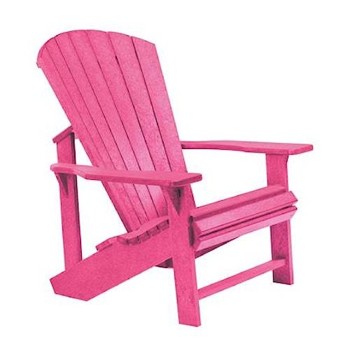 C.R. Plastic Products Adirondack - Fuschia Adirondack Chair