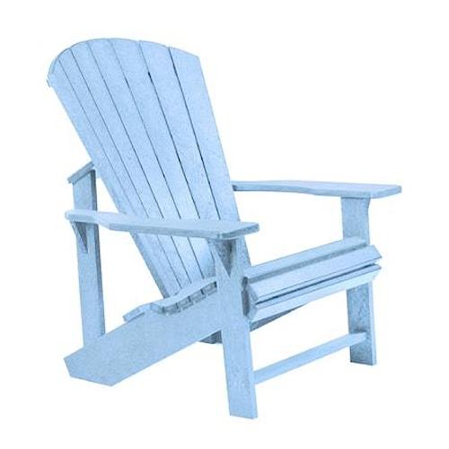 C.R. Plastic Products Adirondack - Sky Blue Adirondack Chair