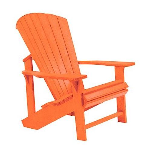 C.R. Plastic Products Adirondack - Orange Adirondack Chair